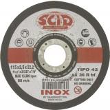 Disque à tronçonner l'inox SCID - Moyeu déporté - Diamètre 115 mm - Alésage 22,2 mm