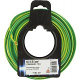 Fil H07 V-R 6 mm² Dhome - Longueur 10 m - Vert / jaune