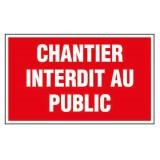 Panneau de signalisation rectangulaire Novap - Chantier interdit au public