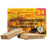 Allume-feux naturel Favorit - Vendu par 24