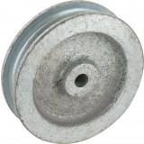 Poulie fonte gorge ronde Jardinier Massard - Fonte seule - Diamètre 50 mm