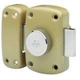 Verrou de sureté bouton et cylindre série Cyclop Vachette - Bronze - Longueur 40 mm