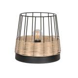 Lampe métal et rotin - Indah  - Corep - Ø 20
