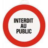 Panneau de signalisation rond Novap - Interdit au public