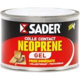 Colle néoprène contact gel Sader - Boîte métal avec spatule 250 ml