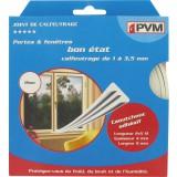 Joint caoutchouc profil E PVM - Blanc - Longueur 10 m