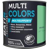 Peinture multi-supports satin soyeux Batir - Vert tonique - 0,5 l