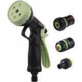 Kit pistolet d'arrosage à pomme ABS et raccord Cap Vert - Diamètre 19 mm