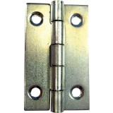 Charnière rectangulaire acier zingué PVM - Diamètre Fixation 3 mm - Hauteur 50 mm - Vendu par 2