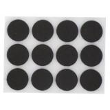 Patin feutre marron adhésif PVM - Diamètre 22 mm - Vendu par 12
