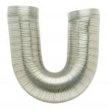 Gaine aluminium flexible extensible classe MO DMO - Longueur de 0,45 à 1,5 m - Diamètre intérieur 90 mm