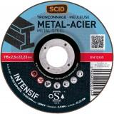 Disque à tronçonner usage fréquent SCID - Métaux - Diamètre 115 mm - Alésage 22,2 mm