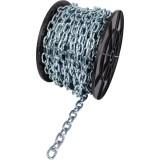 Bobine de chaîne acier zingué - soudée droite - maille courte