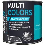 Peinture multi-supports satin soyeux Batir - Turquoise profonde - 0,5 l