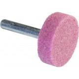 Meule sur tige au corindon rose SCID - Assiette - Diamètre 30 mm - Hauteur 10 mm