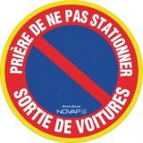 Disque plastique Novap - Ø 30 cm - Haute visibilité - Prière de ne pas stationner