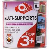 Peinture satinée multi-supports TOP3 Oxi - Noir - 0,5 l
