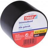 Ruban adhésif PVC tous usages Tesa - Largeur 50 mm - Longueur 20 m - Noir