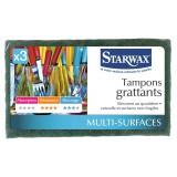 Tampon vert grattant Starwax - Vendu par 3