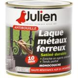 Laque antirouille Julien - Noir satiné - Boîte 500 ml