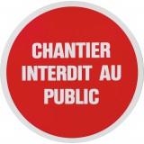 Panneau de signalisation rond Novap - Chantier interdit au public