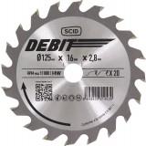 Lame au carbure pour scie circulaire SCID - Epaisseur 2,8 mm - 40 dents - Diamètre 125 mm - Alésage 16 mm