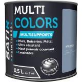 Peinture multi-supports satin soyeux Batir - Bleu orage - 0,5 l