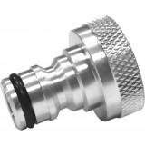 Nez de robinet rapide nickelé Cap Vert - Filetage 20 x 27 mm