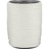 Drisse polyamide tressé blanc Corderies Tournonaises - Longueur 100 m - Diamètre 6 mm