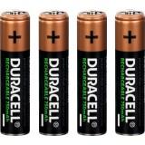 Piles rechargeables AAA Duracell - Blister de 4 - LR03 - 750 mAh - Alcaline