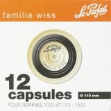 Capsule pour terrine Familia Wiss Le Parfait - Noire - Diamètre 110 mm - Vendu par 12