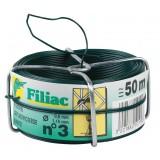 Fil galvanisé plastifié Filiac - Longueur 50 m - Diamètre 1,15 mm - Vert
