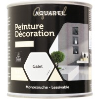 Peinture décoration intérieure velours Aquarel - 0,5 l - Galet