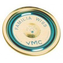 Capsule pour terrine Familia Wiss Le Parfait - Bleu - Diamètre 82 mm - Vendu par 12