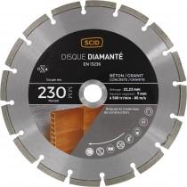 Disque diamanté béton granit SCID - Diamètre 230 mm